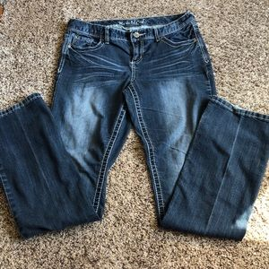 Maurices straight leg jeans size 9/10 long